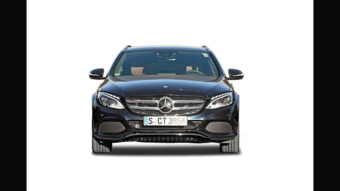 Mercedes C-Klasse, Abgastest auf der Straße, AMS2515