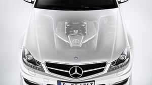 Mercedes C-Klasse Coupe, Frontansicht, Motorhaube, Motor