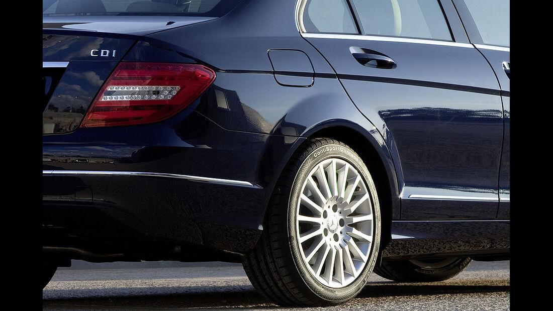 Mercedes C-Klasse Facelift, Limousine, Felge, Heckleuchte