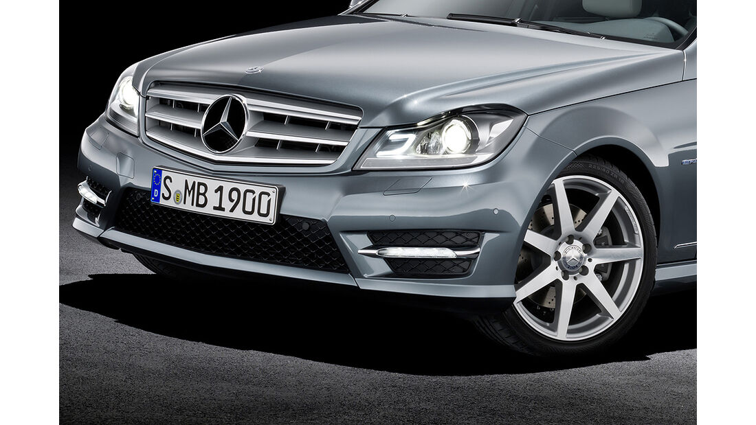 Mercedes C-Klasse Facelift, T-Modell, Avantgarde, Scheinwerfer, Kühlergrill, Felge