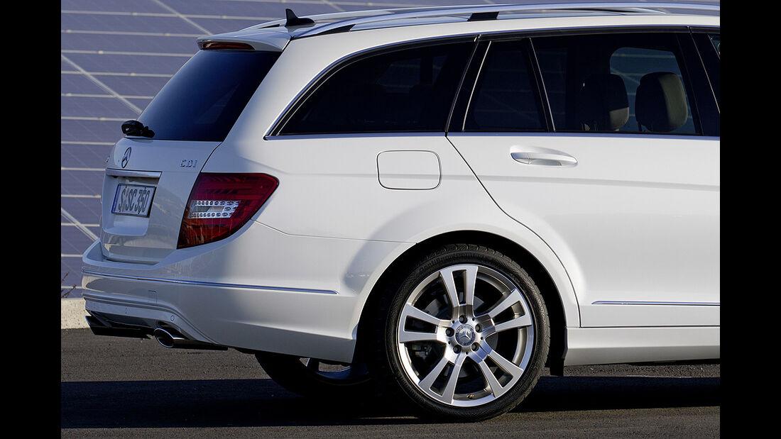 Mercedes C-Klasse Facelift, T-Modell, Felge, Rückleuchte