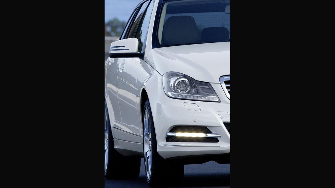 Mercedes C-Klasse Facelift, T-Modell, LED-Tagfahrlicht, Scheinwerfer
