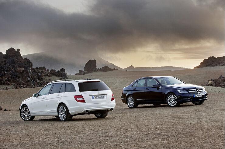 Mercedes C-Klasse Facelift, T-Modell, Limousine