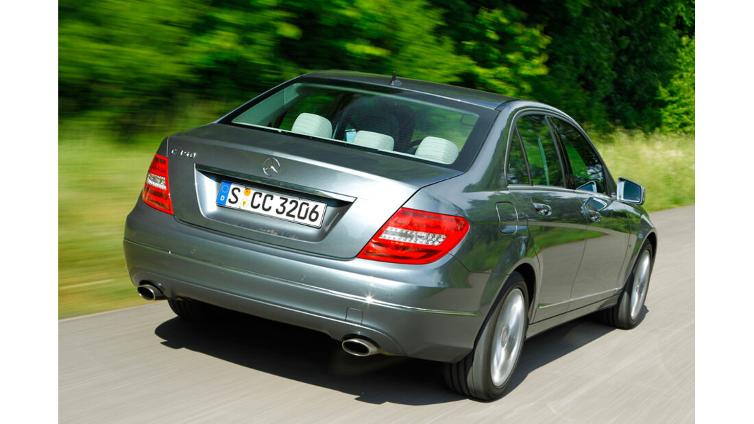 Mercedes C-Klasse, Heck, Rückansicht