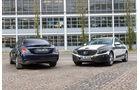Mercedes C-Klasse, Heckansicht, Frontansicht