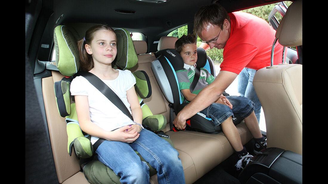 Mercedes C-Klasse, Rückbank, Kindersitze