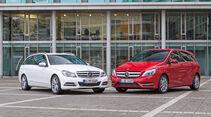 Mercedes C-Klasse T-Modell, Mercedes B-Klasse, Frontansicht
