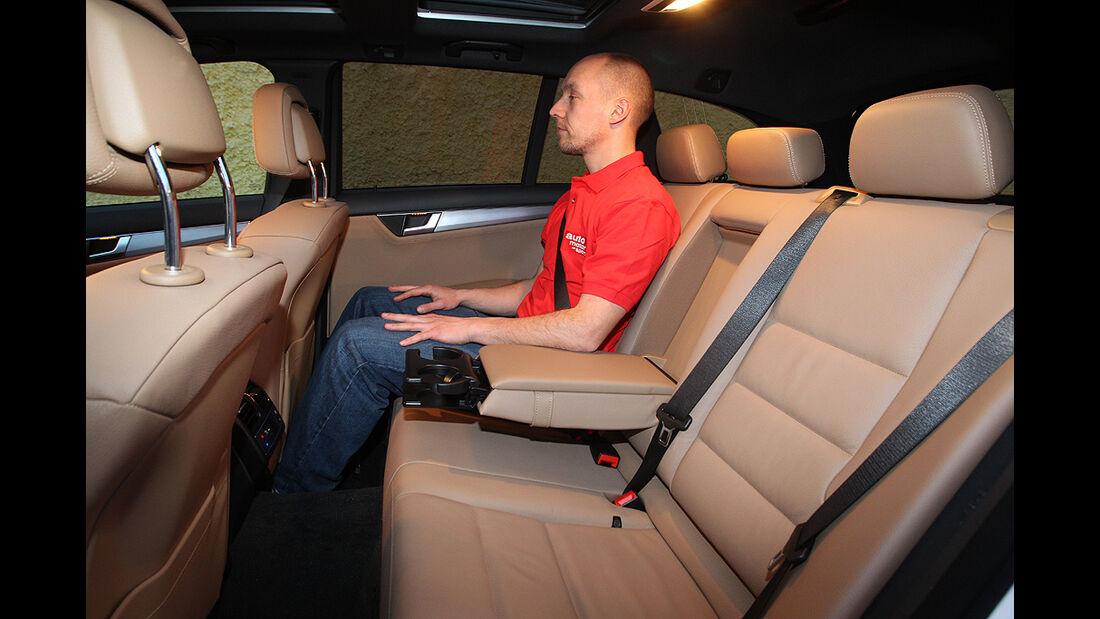Mercedes C-Klasse T-Modell, Rückbank, Rücksitz