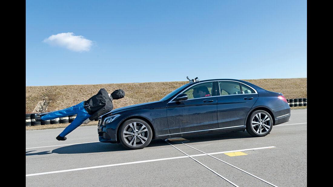 Mercedes C-Klasse, Test, Dummy