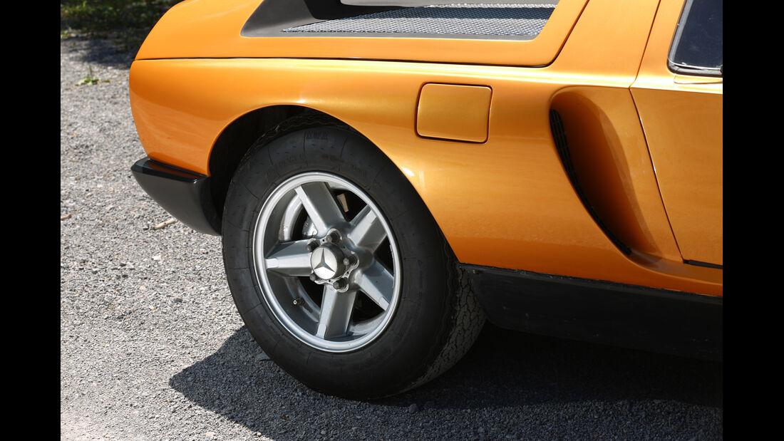 Mercedes C111, Rad, Felge