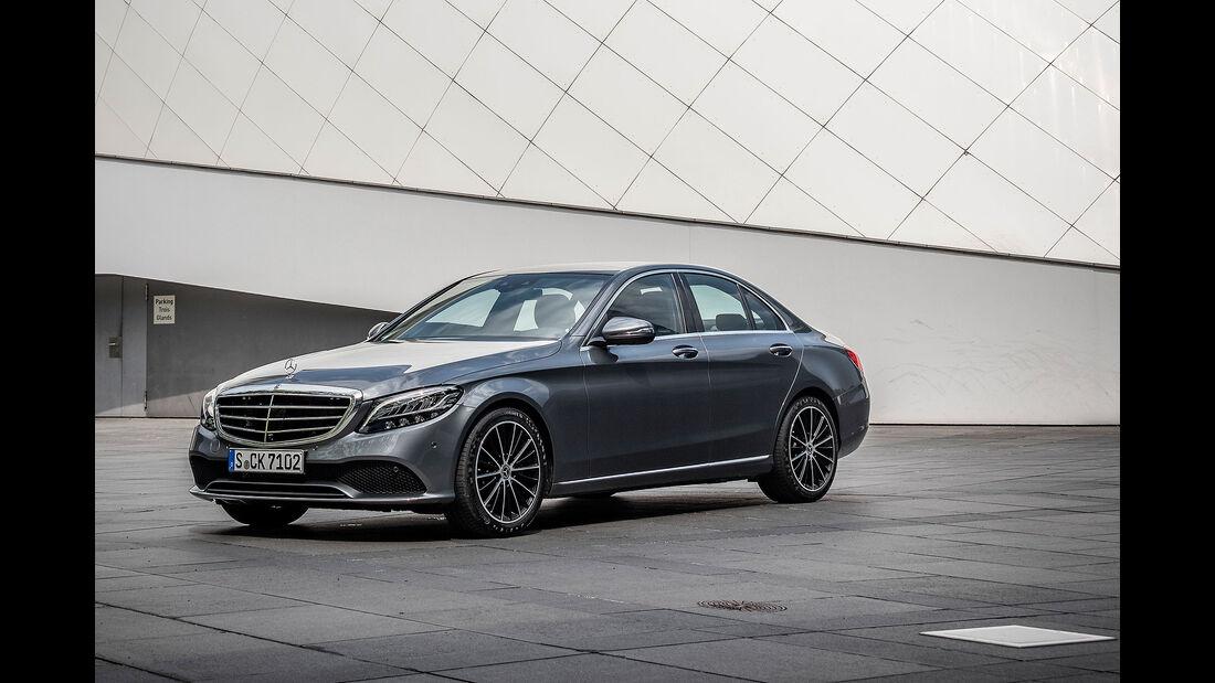 Mercedes C200 Limousine selenite grey (2018)