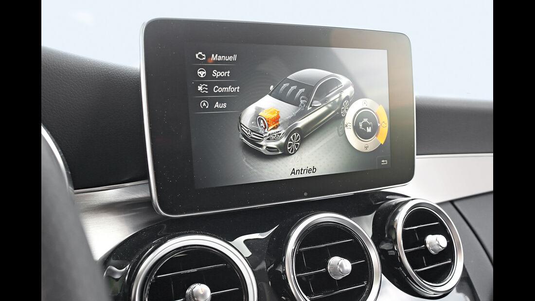 Mercedes C220 Bluetec, Assistenzsysteme, Touchscreen