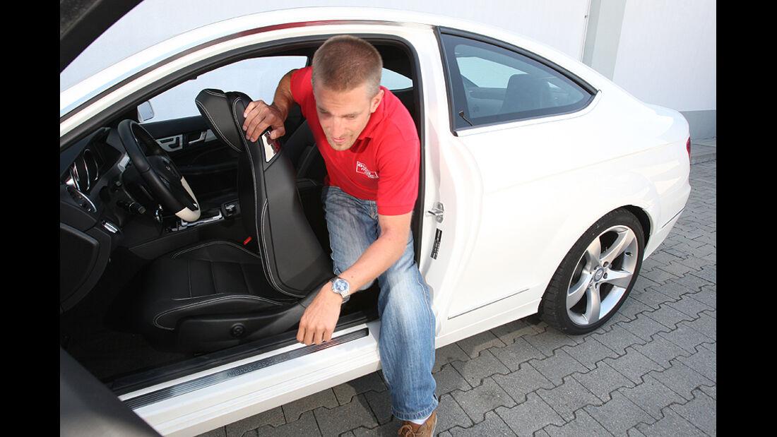 Mercedes C250 Coupe, Ein- und Ausstieg