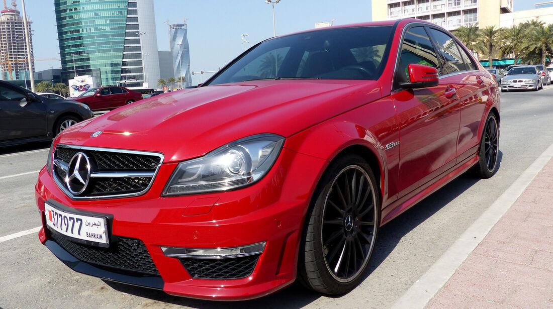 Mercedes C63 AMG - Carspotting Bahrain 2014