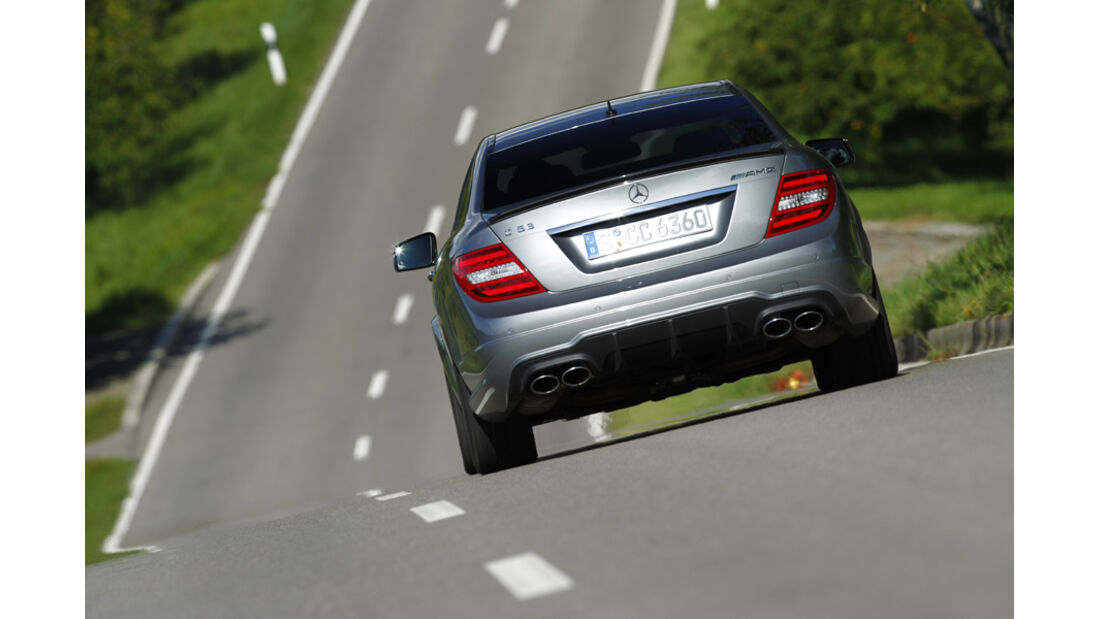 Mercedes C63 AMG Coupe Performance Package, Heck