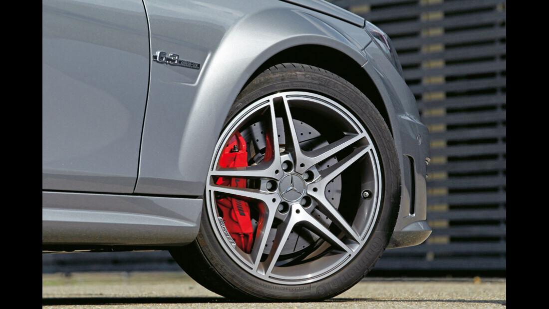 Mercedes C63 AMG Coupe Performance Package, Vorderrad, Felge