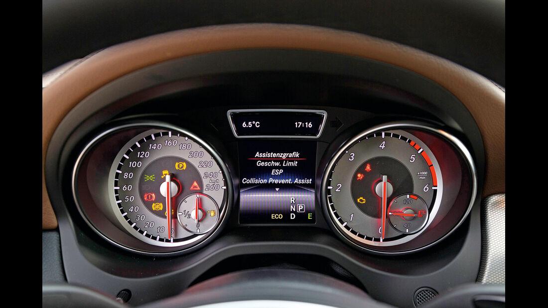 Mercedes CLA 180 CDI, Rundinstrumente