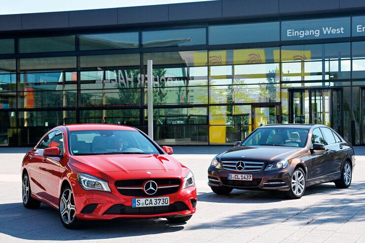 Mercedes CLA 180, Mercedes C 180, Frontansicht