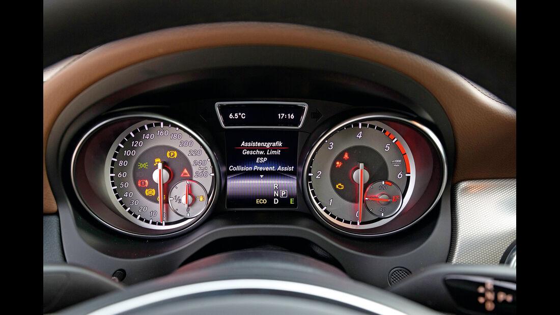 Mercedes CLA 220 CDI, Rundinstrumente