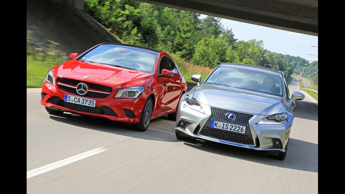 Mercedes CLA 250, Lexus IS 300h, Frontansicht
