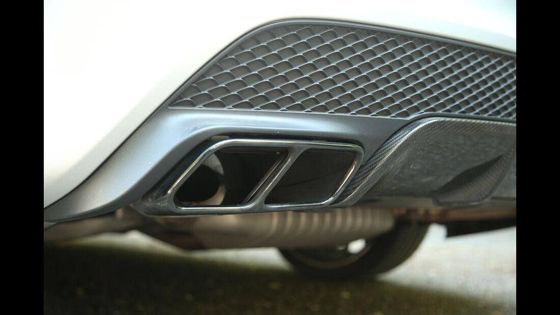 Mercedes CLA 45 AMG Shooting Brake, Auspuff, Endrohr