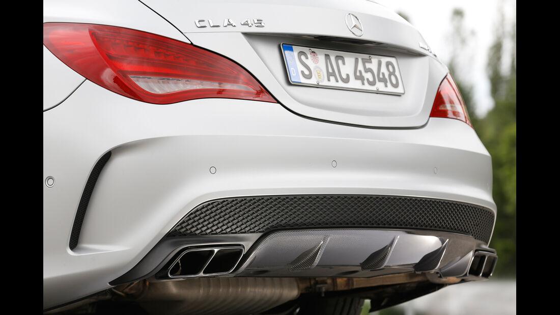 Mercedes CLA 45 AMG Shooting Brake, Endrohre