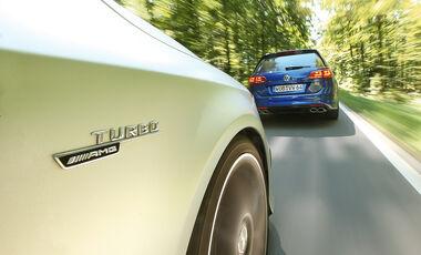 Mercedes CLA 45 AMG Shooting Brake, VW Golf Variant R, Impression