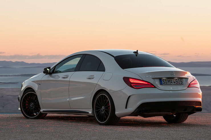 mercedes cla 45 amg in new york mit 360 ps und allradantrieb auto motor und sport. Black Bedroom Furniture Sets. Home Design Ideas