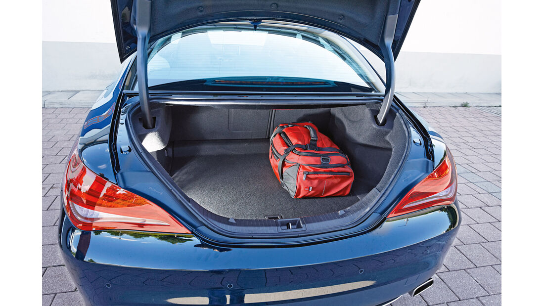 Mercedes CLA, Kofferraum