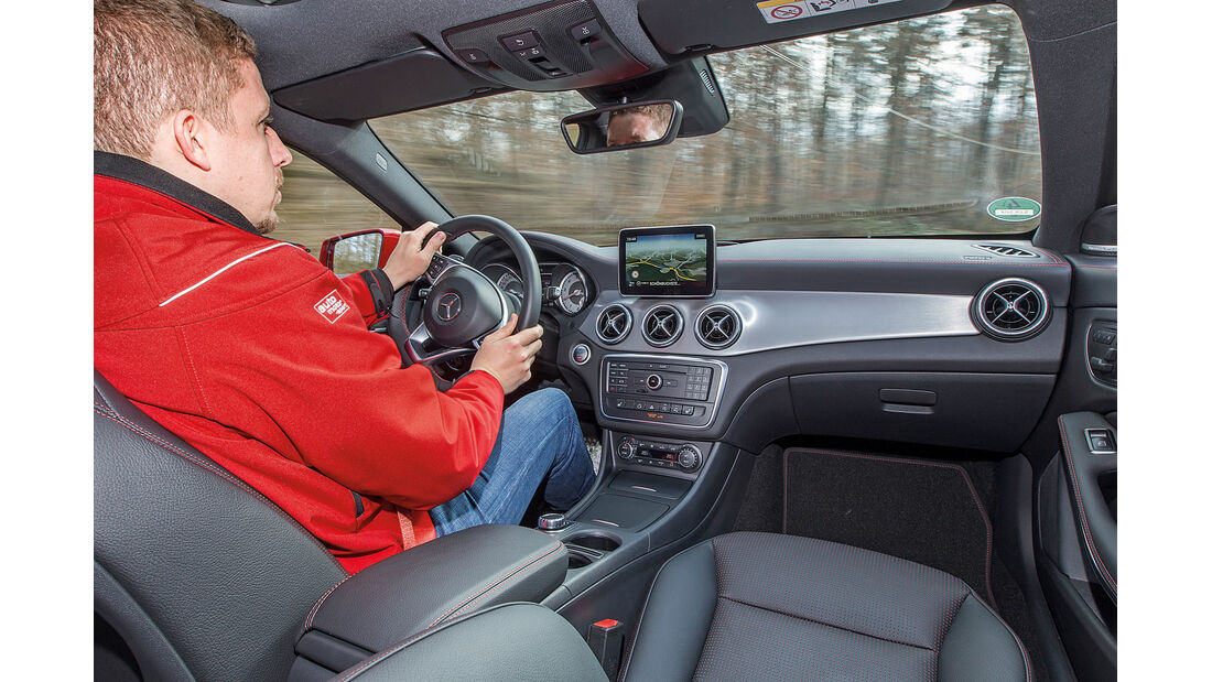 Mercedes CLA Shooting Brake, Cockpit, Fahrersicht