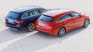 Mercedes CLA Shooting Brake, Mercedes C-Klasse T-Modell, Draufsicht