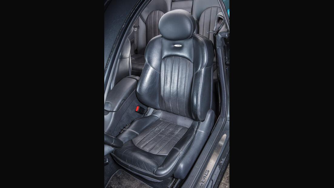Mercedes CLK 55 AMG, Fahrersitz