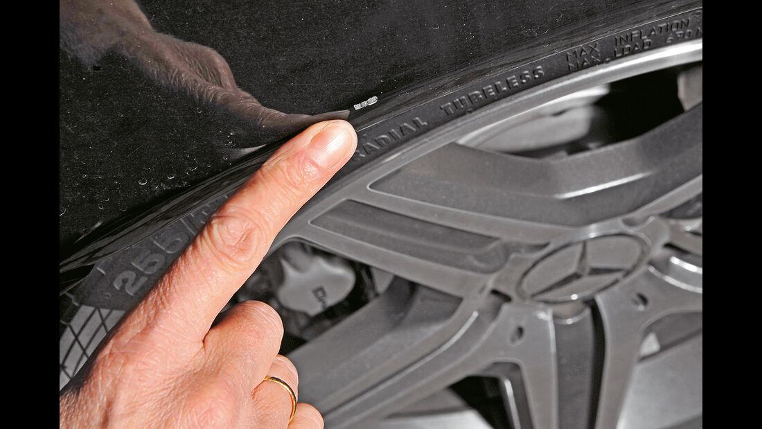 Mercedes CLK 63 AMG Coupé, Lackabplatzer