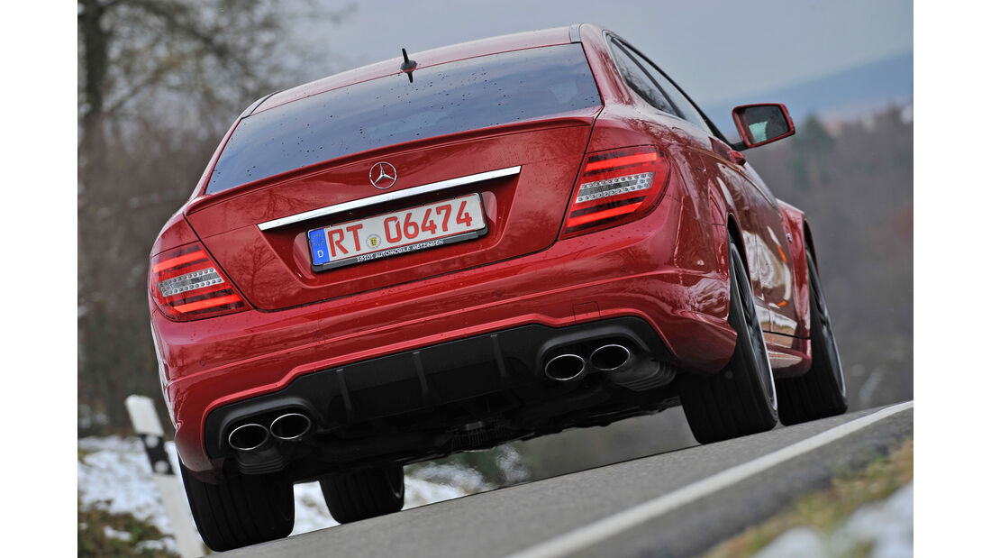 Mercedes CLK 63 AMG, Heckansicht