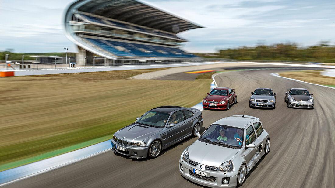 Mercedes CLK DTM AMG, BMW M3 CSL, Porsche 911 GT2 RS, Audi TT Quattro Sport, Renault Clio V6, Exterieur