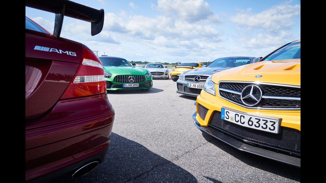 Mercedes CLK DTM AMG - Mercedes SL 65 AMG Black Series - Mercedes C 63 AMG Coupé Black Series - Mercedes SLS AMG - Mercedes SLS AMG Black Series - Mercedes-AMG GT R - 50 Jahre AMG