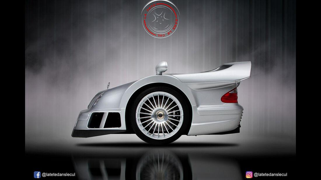 Mercedes CLK GTR Retusche