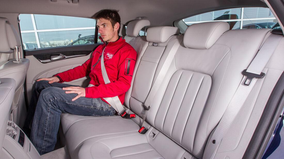 Mercedes CLS 250 CDI Shooting Brake, Fondsitz, Beinfreiheit