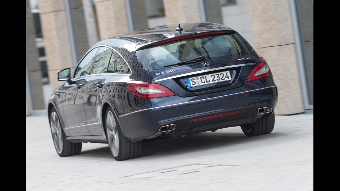 Mercedes CLS 350 Bluetec Shooting Brake, Heckansicht