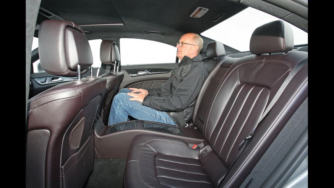 Mercedes CLS 350, Rücksitz, Beinfreiheit