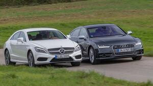 Mercedes CLS 500 4MATIC, Audi S7 Sportback