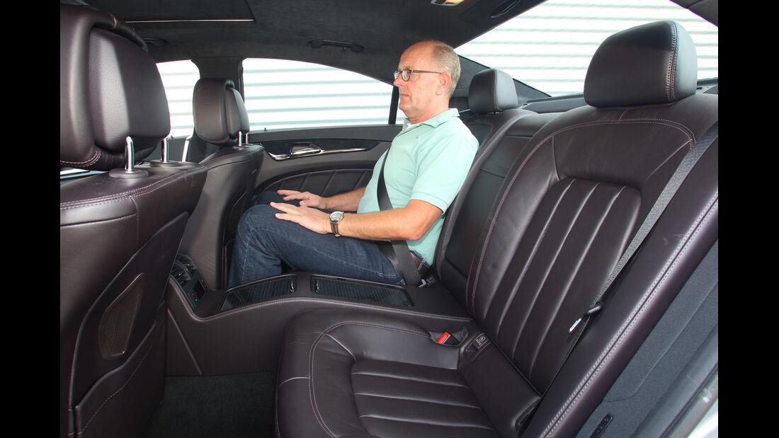 Mercedes CLS 500 4matic, Rückbank, Beinfreiheit