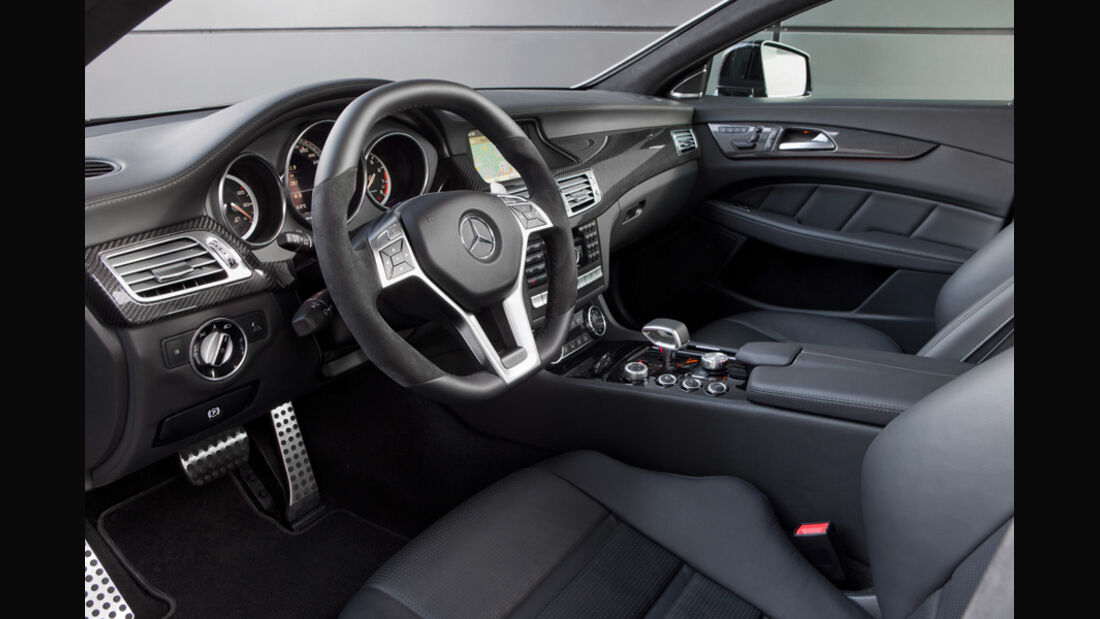 Mercedes CLS 63 AMG, CLS-Cockpit, Innenraum, AMG-Sportlenkrad