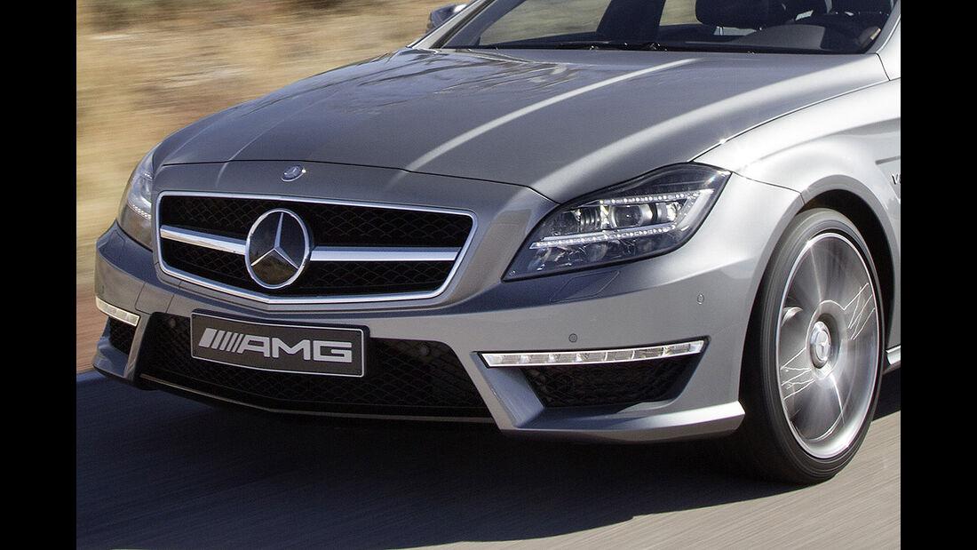 Mercedes CLS 63 AMG, Front, Scheinwerfer