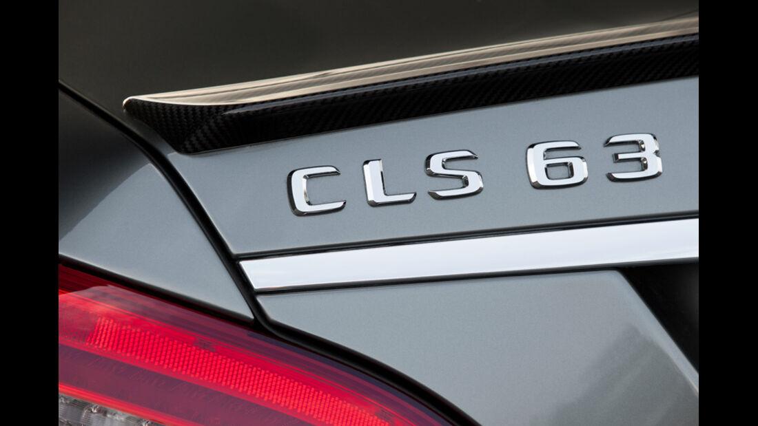 Mercedes CLS 63 AMG, Heckspoiler, Schriftzug