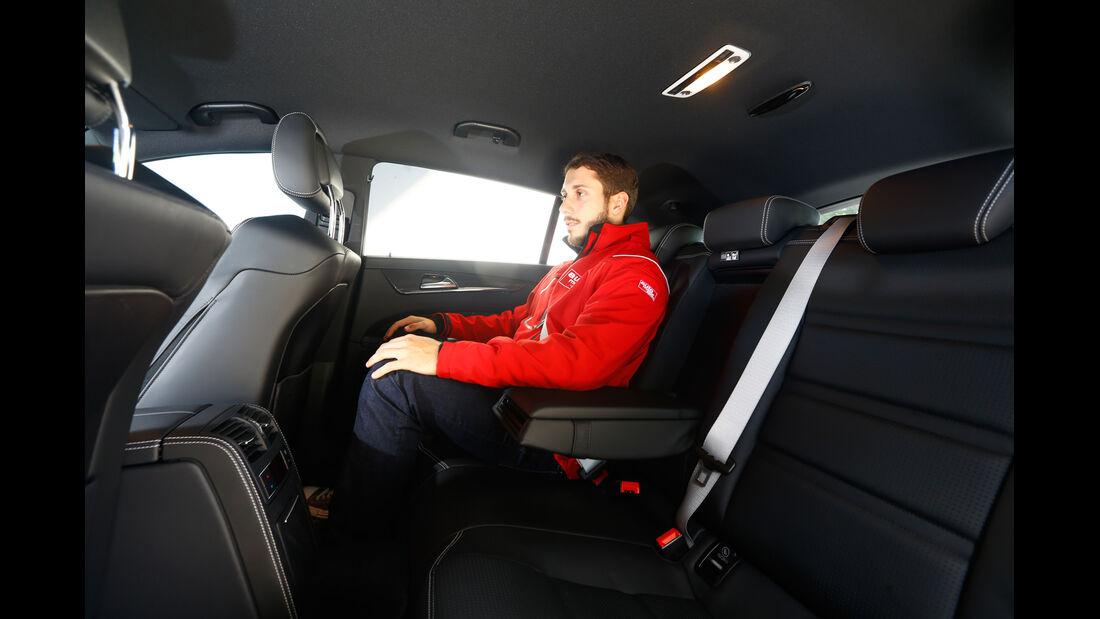 Mercedes CLS 63 AMG S Shooting Brake, Fondsitz, Beinfreiheit