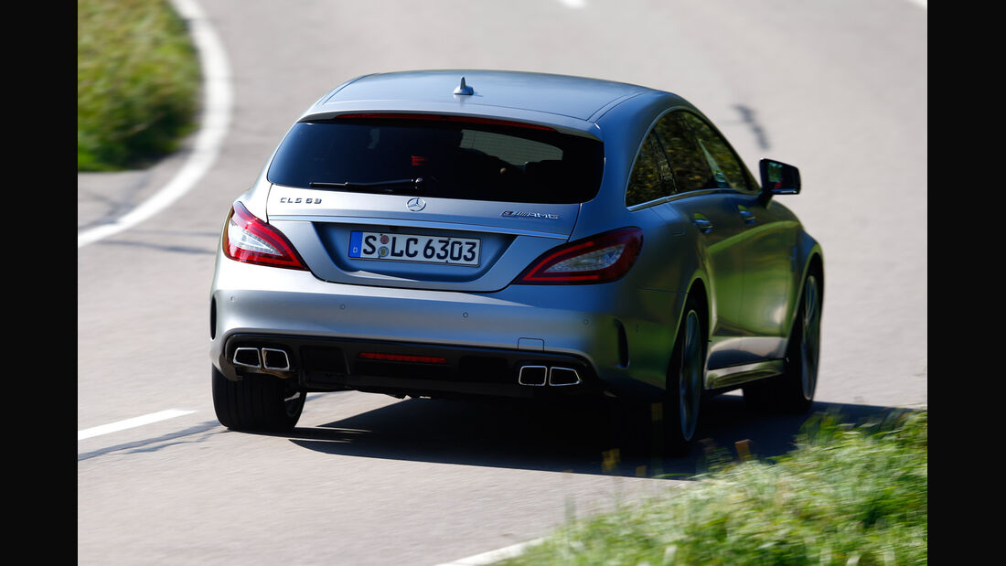 Mercedes CLS 63 AMG S Shooting Brake, Heckansicht