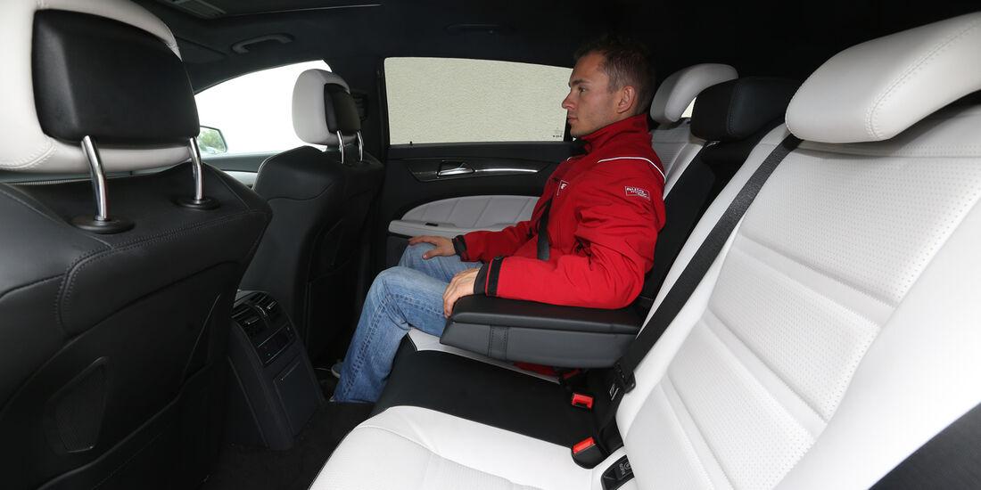 Mercedes CLS 63 AMG Shooting Brake, Rücksitz