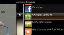 Mercedes Comand Online, App-Übersicht
