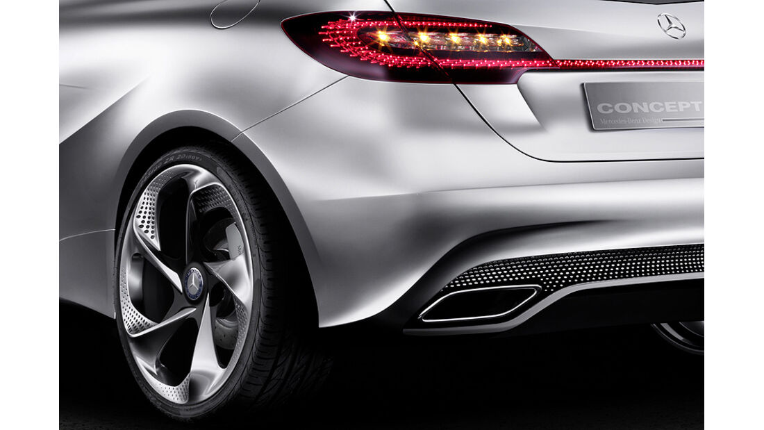 Mercedes Concept A, A-Klasse-Studie, Felge, Rückleuchte